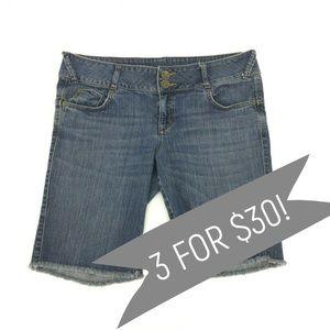 DKNY Jeans Raw Hem Bermuda Shorts  Size 12